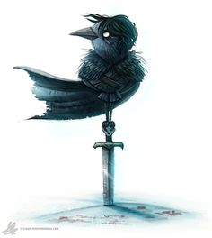 Daily Painting #923 You know nothing Jon Crow by Cryptid-Creations.deviantart.com on @DeviantArt
