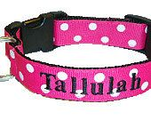 Personalized++Ribbon+Dog+Collar+with+name+by+TheMonogrammedMutt,+$28.00