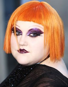 Beth Ditto in her usual glammed and up self Lady Gaga Music, Makeup Art, Hair Makeup, Beth Ditto, Grunge, Badass Women, Wedding Hair And Makeup, Models, Pretty Face