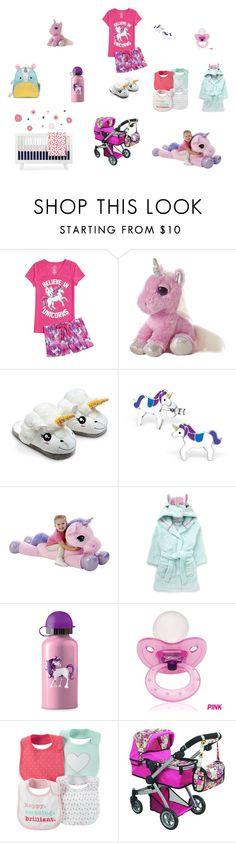 Unicorn Baby. Girl. Pink and Purple