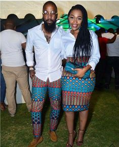 Last 2019 Ankara Styles for Couples . Ankara styles for couples are a standout amongst the most idea Couples African Outfits, African Dresses For Women, African Print Dresses, African Attire, African Fashion Dresses, African Wear, African Prints, African Women, African Style