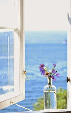 Through the window I look.this would be an ideal kitchen window view & Window View, Open Window, Window Seal, Cottages By The Sea, Beach Cottages, Welcome June, Through The Window, Summer Breeze, Summer Tunes