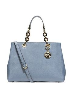 Save on the Michael Kors Cynthia Medium Cornflower Saffiano Leather Satchel! This satchel is a top 10 member favorite on Tradesy. See how much you can save Carteras Michael Kors, Michael Kors Cynthia, Cheap Michael Kors, Michael Kors Satchel, Michael Kors Outlet, Handbags Michael Kors, Boutique Michael Kors, Satchel Handbags, Brand Name Shoes