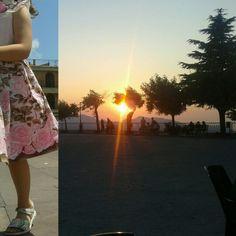 Children running at Sicilian sunset... #sanmauro #familytravel #sicily