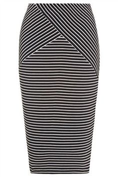 Black / White Pencil Skirt from Next