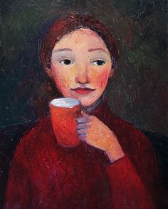 Orange cup, Oil painting by Galya Popova | Artfinder