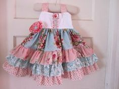 NEW...The Josephine Dress.... Shabby Chic Triple Ruffle Party Dress, Girl's Sizes 6-12 months through 5T. $69.00, via Etsy.