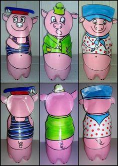93_personnages animaux monstres_Les trois petits cochons