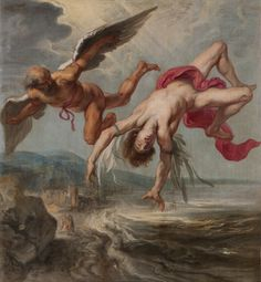 Peter Paul Rubens, Fall of Icarus This image shows Icarus as he's falling… Peter Paul Rubens, Icarus Wings, Daedalus And Icarus, Icarus Fell, Icarus Myth, Mythology Paintings, Creation Art, Renaissance Art, Ancient Civilizations