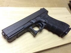 Custom Glock 17 Gen4 9mm. Stippling and biomechanical grip mods by www.DirectionOfForce.com (email for project discussion and free quote)... Direction.Of.Force@gmail.com