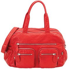 Oioi Red Lizard Carry All Diaper Bag