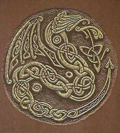 Celtic dragon knot