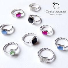 Anillos de plata de la Colección #Colori por Cristina Sotomayor / Jewelry designer. Silver rings from #Colori collection by Cristina Sotomayor / Jewelry designer.