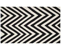 Handgewebter Teppich Jurate, Beige, Schwarz