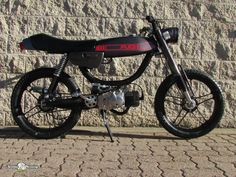 1978 gray custom puch magnum by sunday morning motors