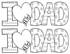 Totally Terrific in Texas: Donuts with Dad Fathers Day Art, Fathers Day Crafts, Happy Fathers Day, Dad Crafts, Preschool Crafts, Numbers Preschool, I Love My Dad, Mom And Dad, Fathers Day Coloring Page