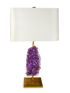 Robert Amethyst Table Lamp from Matthew Studios