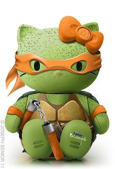 -Ninja Turtles!!! + Hello Kitty! :D