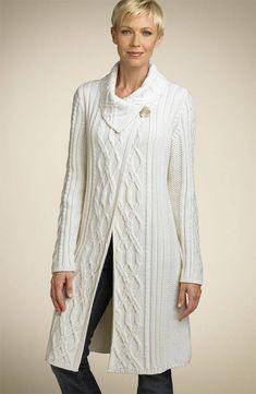 Knitted Cape Pattern, Aran Knitting Patterns, Crochet Cardigan Pattern, Angora Sweater, Wool Cardigan, Pull, Couture, Clothes, Knit Patterns