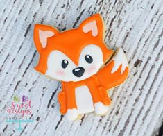 Fox Cookie #woodlandcookiecutters #customcookiecutters #thesweetdesignsshoppe #decoratedcookie #woodlandcookies clipart by pixelpaperprints