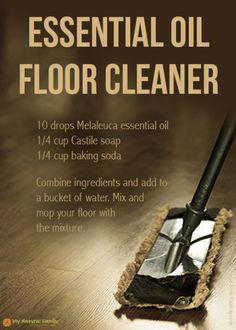 Essential oil floor cleaner