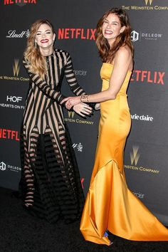 Jaime King and Michelle Monaghan hammed it up at the Weinstein Company and Netflix's post-Globes fete. See more Golden Globes afterparty pics here!