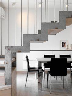 Apt Duplex Milan #stair #architecture