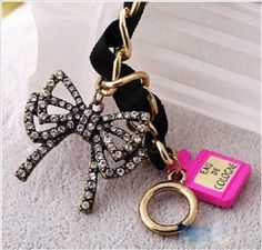 Betsey Johnson Crystal Bow Eiffel Tower Love Heart Chain Toggle Clasp Bracelet #BetseyJohnson