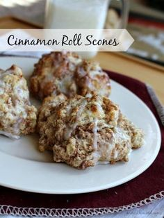 These cinnamon roll scones are not only super simple, but they have all the taste of a delicious cinnamon roll. Topped with a cinnamon glaze they are tasty!