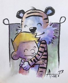 calvin. One of the funniest cartoon books I've ever read and recommended to everyone.