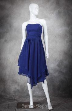 Sweetheart Sexy Bridesmaid Dress Royal Blue Knee by SanctSophia, $89.00