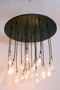 The Neely Round Industrial Chandelier with vintage by urbanchandy, $675.00