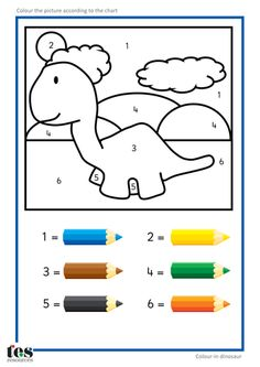 Colour by Numbers TEACCH Activities - Dinosaurs!