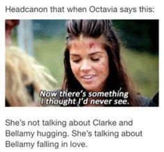 She's a Bellarke shipper :D