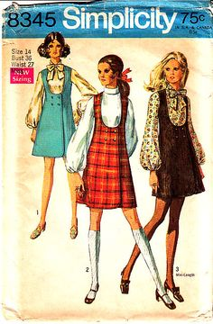 .....Simplicity patterns.....My Mom made most of my clothes when I was growing up.....then I learned to sew.