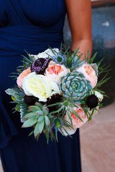 Beautiful succulent bouquet.