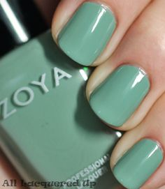 Zoya Bevin - a GORGEOUS sage green shade perfect for spring. just got it AND put it on today!