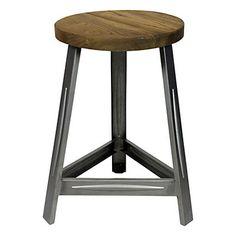 """-Idea para reciclar taburetes, con sobre de madera... Taburete """"Trapist"""" gris y beige  33 x 33 x 46 cm"""