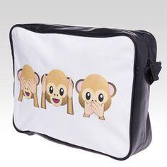 Taška přes rameno Monkeys bílá