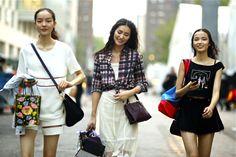 #405 Fei Fei Sun, Liu Wen and Xiao Wen Ju after Anna Sui show NYFW14SS, New York.