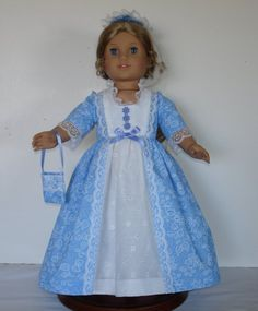 COLONIAL BALL OR TEA DRESS FITS AMERICAN by MargaretteDesigns4AG