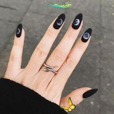 <br> Gradient Nails, Holographic Nails, Stiletto Nails, Coffin Nails, Black Manicure, Matte Black Nails, Black Nail Art, Wedding Nail Polish, Wedding Nails