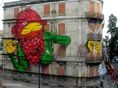 by Os Gemeos e Blu, Lisboa, Portugal