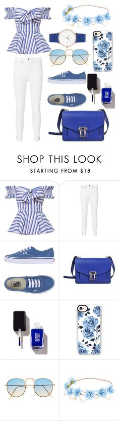 """""""50 shades of blue"""" by sofkulin ❤ liked on Polyvore featuring Caroline Constas, rag & bone, Vans, Proenza Schouler and Casetify"""