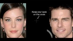 Now keep your eyes on the cross and watch your favourite celebrities morph into nothingness. | 18 Photos That Will Change The Way You Look At The World