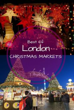 London Christmas Markets - If you are visiting London in December and wondering what to do, then you should definitely check out these wonderful Christmas Markets in London. Here are some of the best London Christmas markets to soak up the festive spirit. London Christmas Market, Christmas Markets, Paris Christmas, Christmas Travel, Holiday Travel, Christmas Getaways, London In December, Things To Do In London, Amsterdam