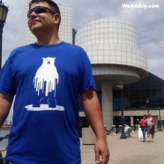 "The Cleveland Science Center is the perfect backdrop for our ""Melting Polar Bear"" tee now on sale for just $17.99!  Find it at WeAddUp.com (type ""melting"" into search box). #climatechange  #globalwarming  #sciencecenter  #clevelandsciencecenter  #greatlakes  #clevelandgram  #climatechangeisreal  #polarbear  #polarbears  #bethechange  #earthday"
