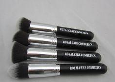 kabuki silver RC Cosmetics Royal Care Cosmetics dupe for Sigma kabuki brushes