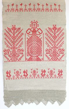 """30 dec 11.  An old traditional embroidery usually seen at Karelian/orthodox cloths called """"käspaikka""""."""