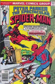 Spectacular Spider-Man Titled Peter Parker, The Spectacular Spider-Man on its December 1976 debut, and shortened to simply The Spectacular Spider-Man with #134 (Jan. 1988), this was the second Amazing Spider-Man monthly comic-book spin-off series, after Marvel Team-Up , which also featured Spider-Man. The monthly title ran 263 issues until 1998.